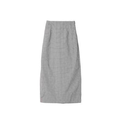 【シルキー】 グレンチェックタイトスカート レディース ブラック FREE Silky