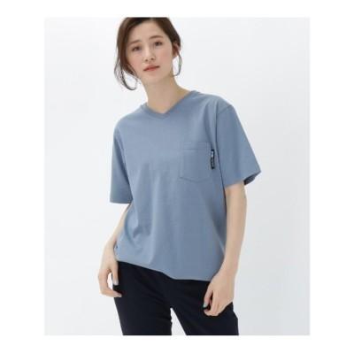 ベース コントロール BASE CONTROL 【WEB限定】半袖 ヘビーウェイトポケットTシャツ Vネック (ライトブルー)
