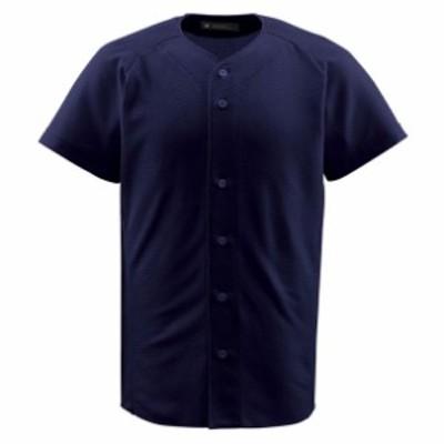 ジュニアフルオープンシャツ【DESCENTE】デサントヤキュウソフトユニフォーム シャツ・M(JDB1010-NVY)