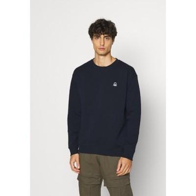 ベネトン  パーカー・スウェットシャツ メンズ アウター CREW NECK - Sweatshirt - dark blue
