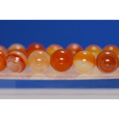オレンジアゲート ブレスレット パワーストーン 天然石 メール便可200円