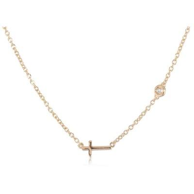 Syd by SE Cross Necklace with Diamond Bezel