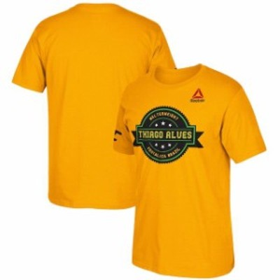 Reebok リーボック スポーツ用品  Reebok Thiago Alves Gold Badge T-Shirt