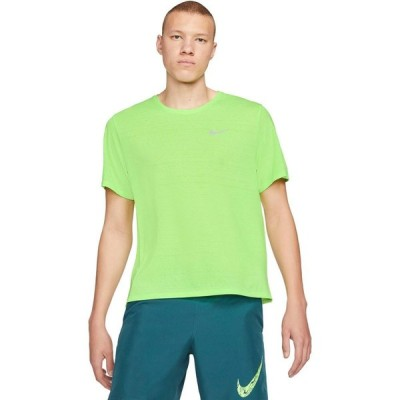 ナイキ Nike メンズ トップス ドライフィット Dri-Fit(TM) Miler Top Short Sleeve Ghost Green/Reflective Silver