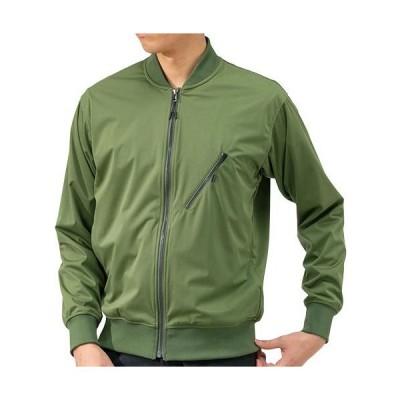 ミズノ(MIZUNO) メンズ テックシールドリブカラーブルゾン チャイブグリーン B2MC9551 36 ジャケット アウター 防寒 アウトドアウェア