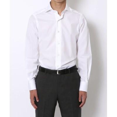 TOMORROWLAND/トゥモローランド 140/2コットンブロード ワイドカラー ドレスシャツ ホワイト 39