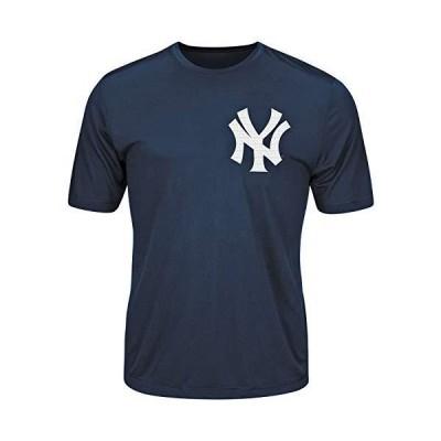 ニューヨーク・ヤンキースMLB公式ライセンス商品100?%コットンクルーネック空白バック大人用XL