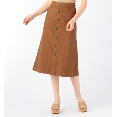 【トゥモローランド/TOMORROWLAND】 コットンストレッチオックスフォード フロントボタンAラインスカート