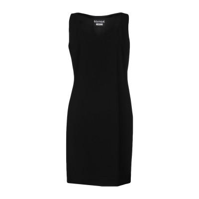 BOUTIQUE MOSCHINO ミニワンピース&ドレス ブラック 44 70% トリアセテート 30% ポリエステル ミニワンピース&ドレス