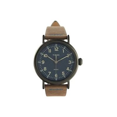 タイメックス 40 mm Standard 3-Hand メンズ 腕時計 時計 カジュアルウォッチ Gunmetal/Blue/Brown