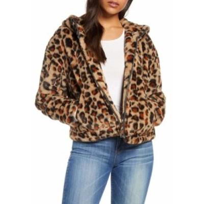 アグ UGG レディース ジャケット アウター Mandy Faux Fur Hooded Jacket Leopard Amphora