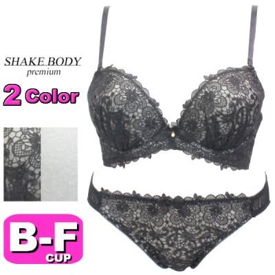 Shake Body シェイクボディ ブラジャー ショーツ セット 336210 シアーケミカルライン 3/4カップ ブラ&ショーツ BCDEFカップ