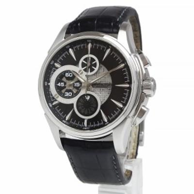 (中古)ハミルトン HAMILTON ジャズマスター オープンシークレット クロノグラフ 自動巻き メンズ 腕時計 H32756731 ブラック 黒 箱付