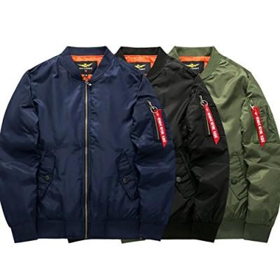 佐川急便MA-1 エムエーワン ジャケット メンズ ジャンパー コート ライト アウター ゆったり 中綿 ミリタリー ジャケット フライトジャケット ブルゾン 大きいサイズ