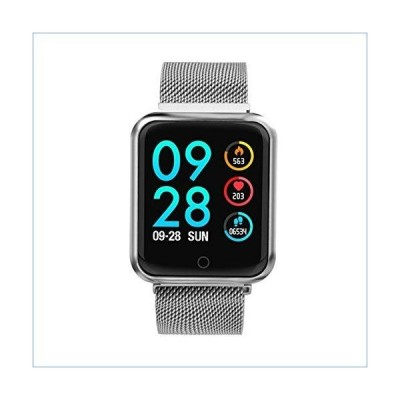 ZTYY Sports IP68 Smart Watch P68 Fitness Bracelet Activity Tracker Heart Rate Monitor Blood Pressure for iOS Android (Color : P68 Steel Silv