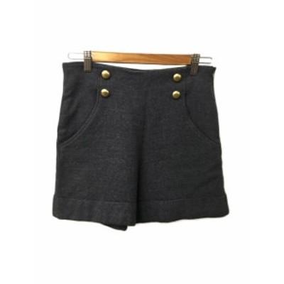 【中古】ストロベリーフィールズ STRAWBERRY-FIELDS パンツ ショートパンツ ダブル ウール 2 グレー レディース