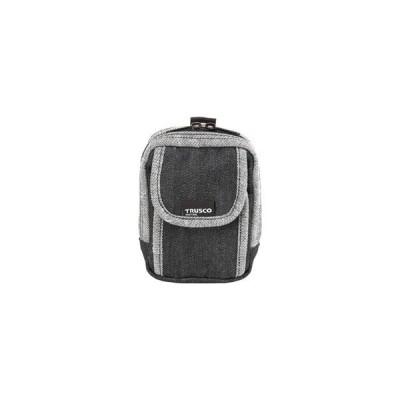 トラスコ中山 TRUSCO デニム携帯電話用ケース 2ポケット ブラック TDC−H102