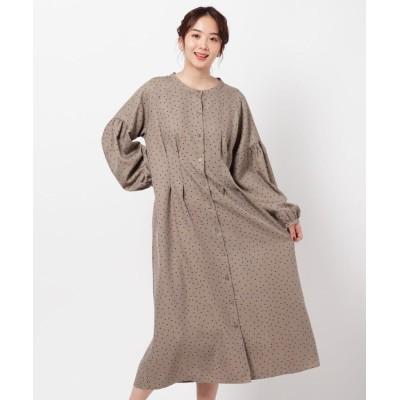 THE SHOP TK(Women)(ザ ショップ ティーケー(ウィメン)) 羽織りにしても可愛いドットシャツワンピース/ONSTYLE