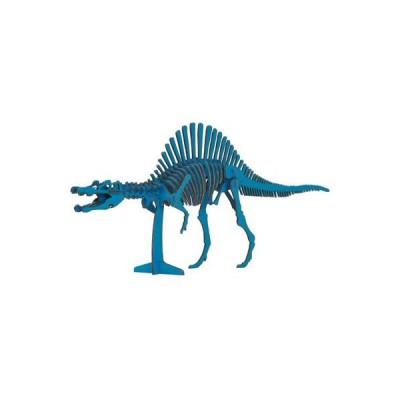 hacomo ハコモ ダイナソー 恐竜 スピノサウルス ブルー 青 玩具 おもちゃ 組立式 工作 ダンボール クラフト 春休み GW 夏休み 冬休み 宿題 工作キット