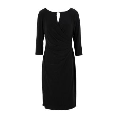 LAUREN RALPH LAUREN ミニワンピース&ドレス ブラック 8 95% ポリエステル 5% ポリウレタン ミニワンピース&ドレス