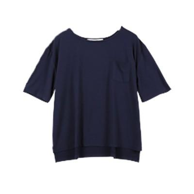 コウベレタス KOBE LETTUCE 落ち感がキレイなゆるシルエTシャツ 【ポケット付】(ネイビー)