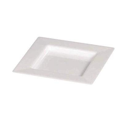 プレート 7.5×7.5cm ホワイト (25枚入)     ソリア PS30302
