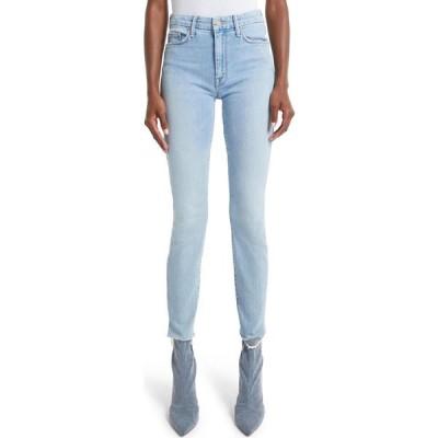 マザー MOTHER レディース ジーンズ・デニム ボトムス・パンツ The Looker High Waist Frayed Skinny Jeans Zapped