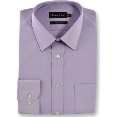 ダブルTWO Double Two メンズ シャツ トップス Classic Easy Care Cotton Blend Long Sleeved Shirt Lilac