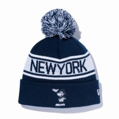 ニューエラ NEW ERA ポンポンニット ディズニー ネイビー ホワイト ニットキャップ 帽子 日本正規品