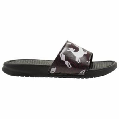 ナイキ レディース サンダル Nike Benassi JDI Slide スリッパ Black/Spruce/Aura Iced Lilac