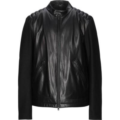 ZZEGNA メンズ レザージャケット ライダース アウター biker jacket Black