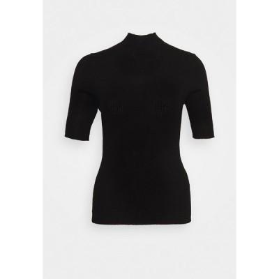 マルコポーロ ピュア Tシャツ レディース トップス BRISBANE SHORTSLEEVE TURTLENECK - Print T-shirt - pure black