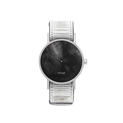 特別価格South Lane ステンレススチール スイス製クオーツ腕時計 レザーカーフスキンストラップ ブラック 20 (モデル:AW18-2-76)好評販売中