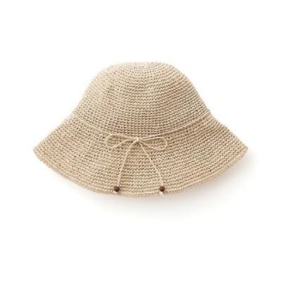 手編み 帽子 ハット ささ和紙  sasawashi ベージュ