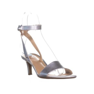 レディース 靴 コンフォートシューズ Womens naturalizer Tinda Ankle Strap Sandals Soft Silver Leather 8.5 US / 38.5 EU