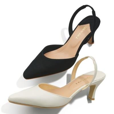 バッグ 靴 アクセサリー パンプス サンダル ストラップ バックストラップパンプス バックストラップ ヒールパンプス 214401