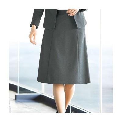 Aラインスカート(事務服・カットソー素材・ウエスト後ろゴム仕様)/スーツなのに動きやすい 61-89 64-91 67-93 70-95 73-97 1758-181457