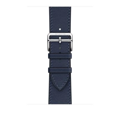 Apple Watch Hermès - 45mmケース用(ネイビー)シンプルトゥールレザーストラップ MKG73FE/A
