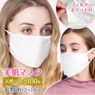 マスク 在庫あり シルクマスク シルク シルク100% 洗える 布マスク おやすみマスク 睡眠 花粉症 肌荒れ防止 アトピー 乾燥対策 8U90