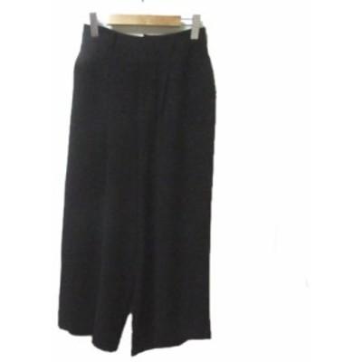 【中古】未使用品 レイビームス Ray Beams 16年 ワイド パンツ 黒 ブラック 1 Sサイズ相当 X レディース