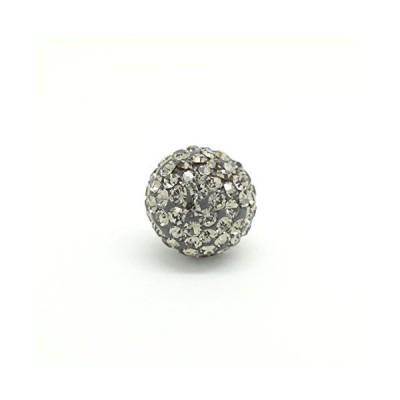 普通のキャッチじゃつまらないチェコガラスキャッチ パヴェボール バックキャッチ(ブラックダイヤ) 12mm(1個売り)