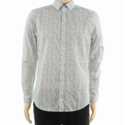 ファッション アウター INC Black Mens Shirt Size Small S Animal Print Long Sleeve Button Up
