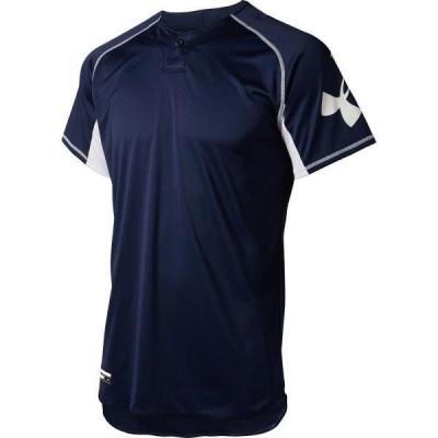 ベースボールTシャツ 野球着 Tシャツ メンズ UA TS 1ボタン ベースボール シャツ MDN  (UDR)(CQB27)