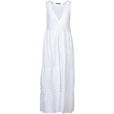 GIORGIA  & JOHNS ロングワンピース&ドレス ホワイト S コットン 100% ロングワンピース&ドレス