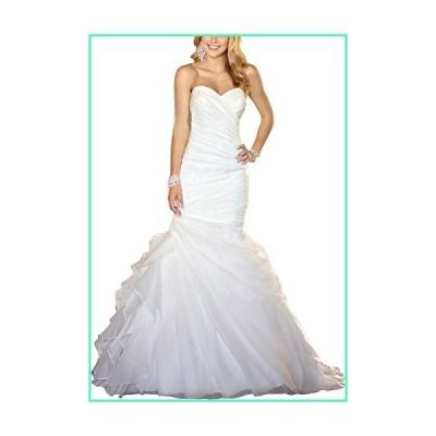 Vnaix Bridals Popular White Ruffle Organza Real Mermaid Wedding Dress in Stock (8)並行輸入品