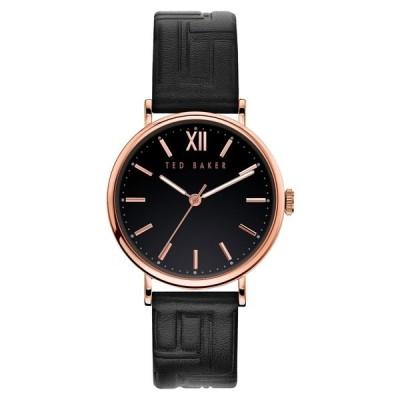 テッドベーカー 腕時計 アクセサリー レディース Phylipa Leather Strap Watch, 37mm Black/ Rose Gold