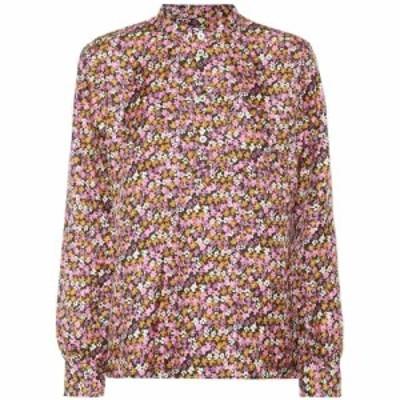 アーペーセー A.P.C. レディース ブラウス・シャツ トップス Amandine floral silk blouse Faa Rose