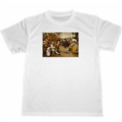 ピーテル・ブリューゲル ドライ Tシャツ 農民の踊り 名画 絵画 グッズ