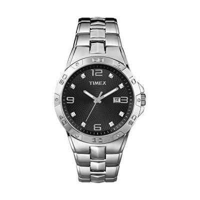 腕時計 タイメックス メンズ T2P2619J Timex Men's T2P2619J Crystal-Accented Stainless Steel Watch