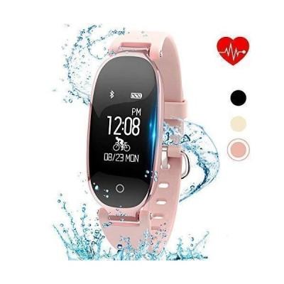 (新品) Kingkok Elegant Waterproof Fitness Tracker for Women Smart Bluetooth Pedometer Watch Band Multi-Mode Wireless Activity Tracker